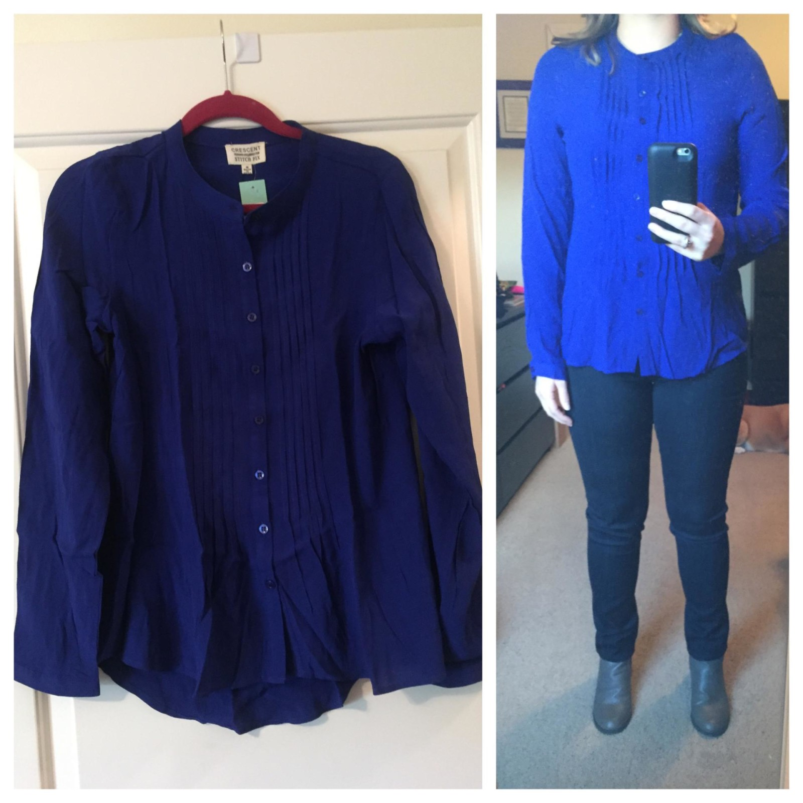 Crescent Cativo Button Front Top