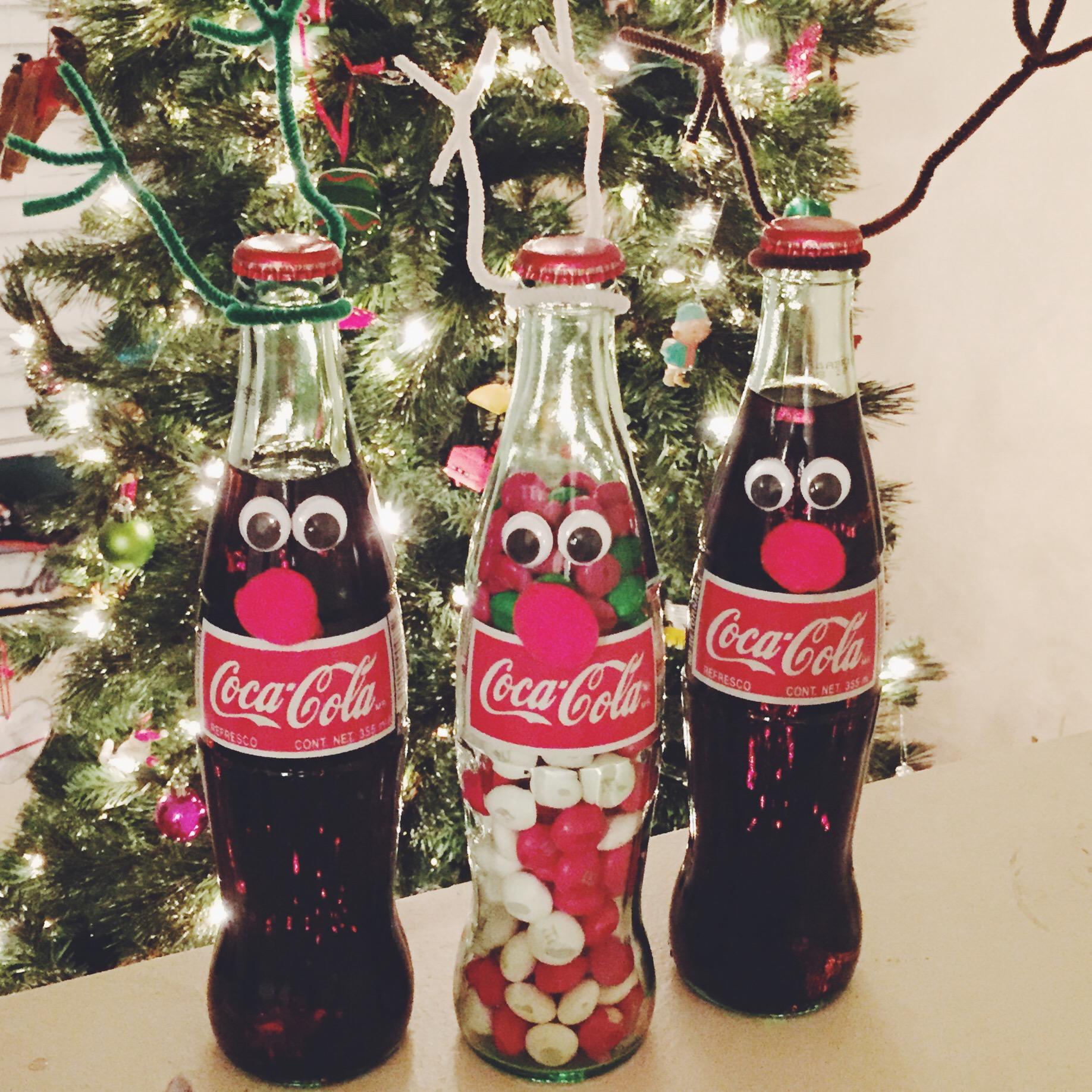 Christmas Diy Reindeer Bottles Brownies Small Towns