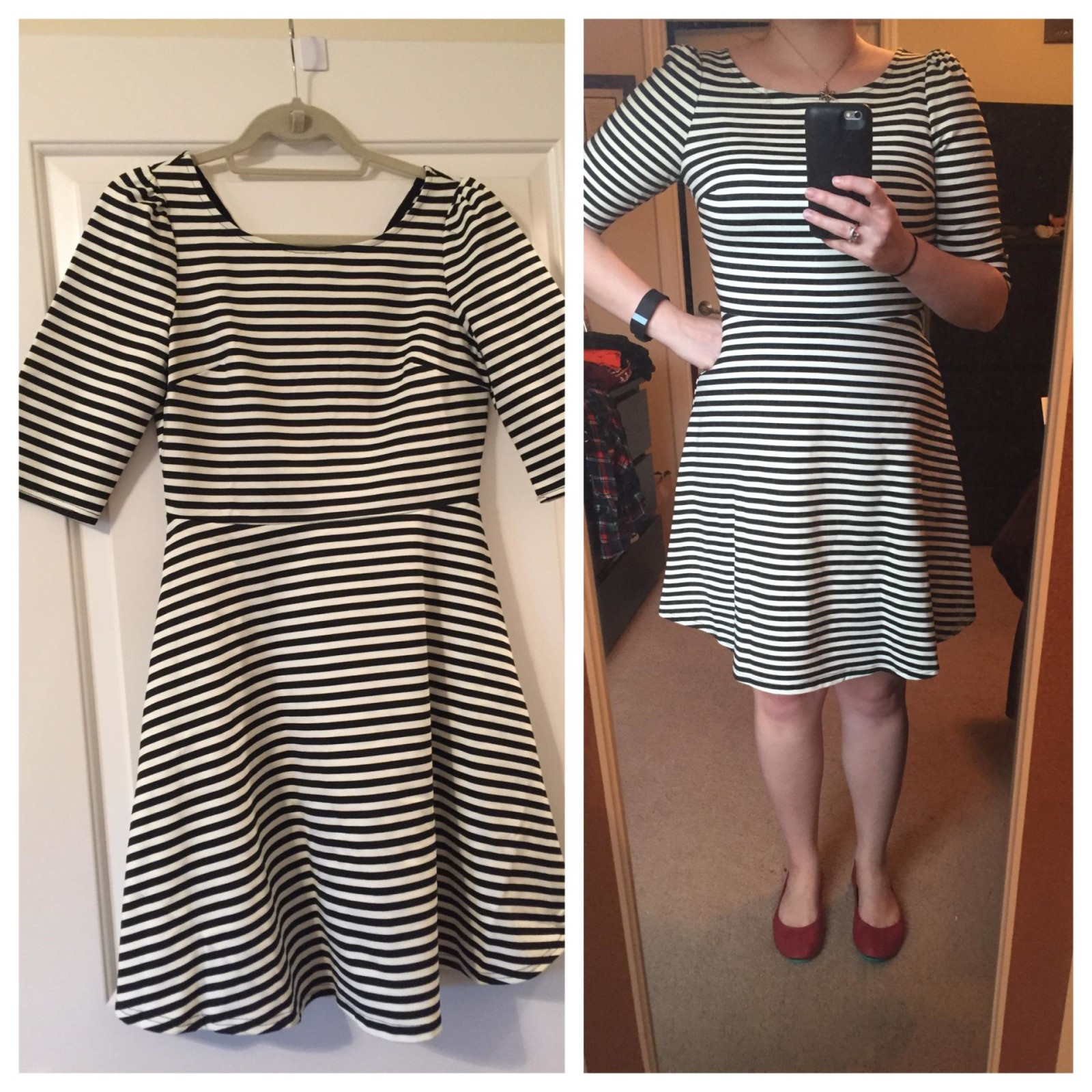 Pixley Kathy Striped Fit & Flare Dress
