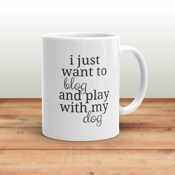 blogger dog mom mug