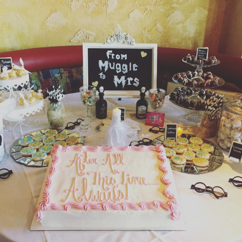 A harry potter themed bridal shower small towns city