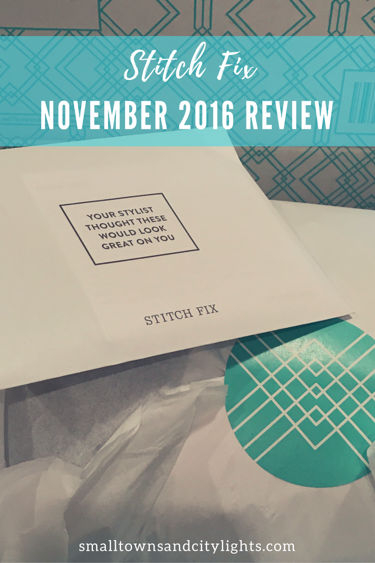 Check out my November 2016 Stitch Fix box!