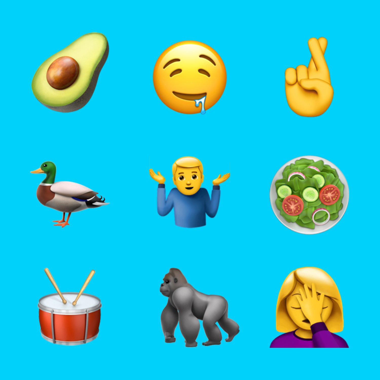 Check out the new emojis coming out with iOS 10.2!