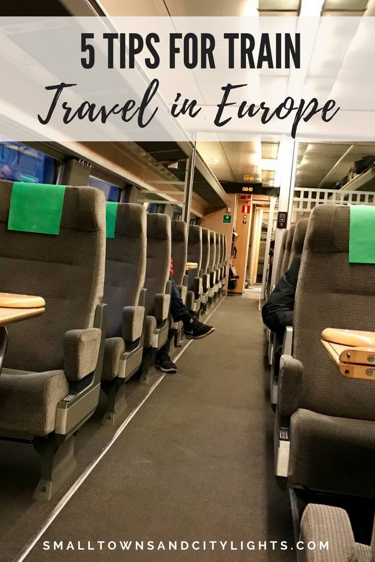 5 tips for train travel in Europe